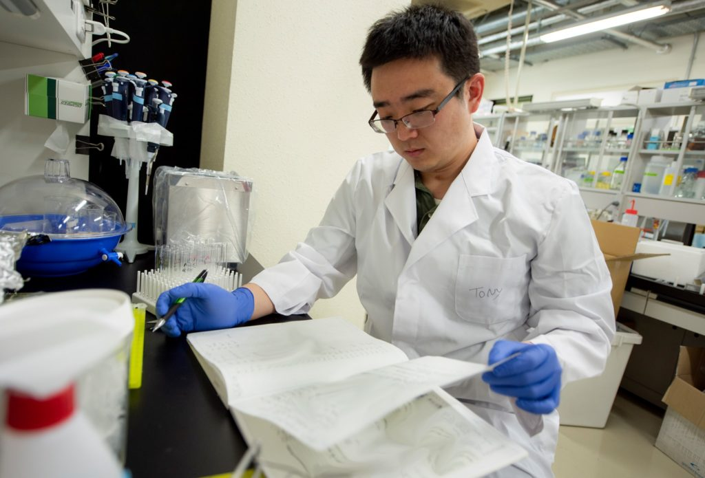 Tony Jia in the lab