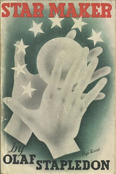 A book cover for Star Maker by Olaf Stapledon showing two hands wrapped around a ball
