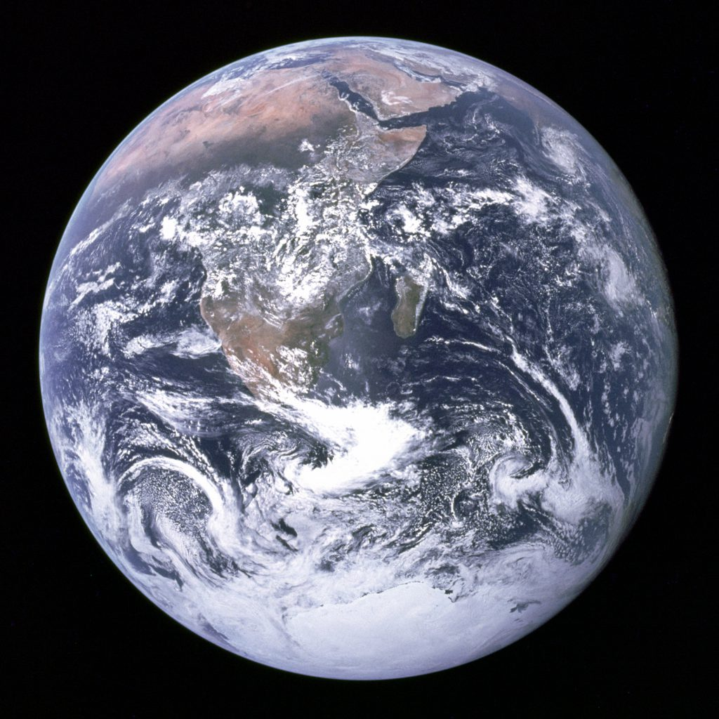 The Earth from space as seen by Apollo astronauts