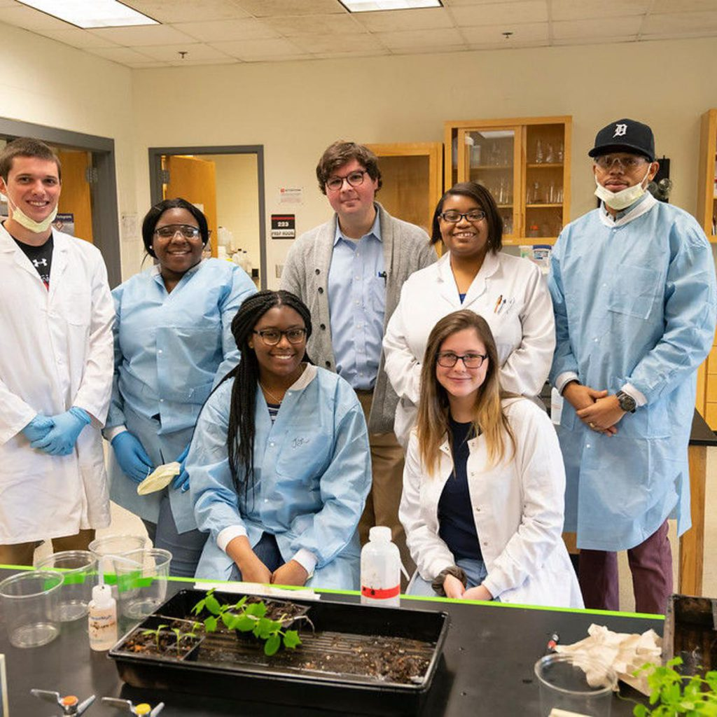 Astrobotany lab members at Winston-Salem State University