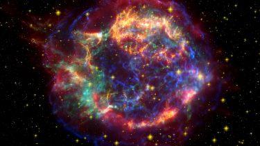 An image of a nebular formed after a supernova